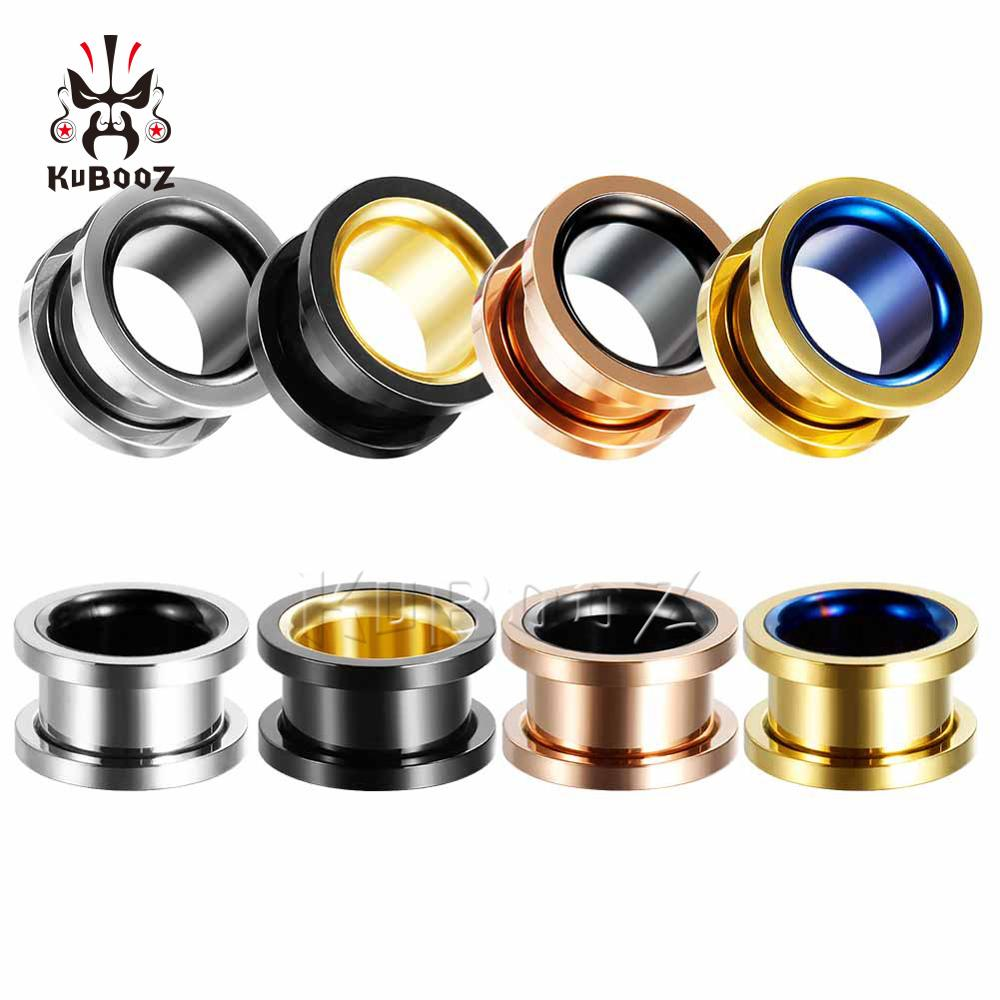 Smiple Style Hollow Pirecing Plugs Ear Expanders Stud Earrings Jewlery Body Fashion Gift Hot Sell By Pair Multi Color For Choose(China)