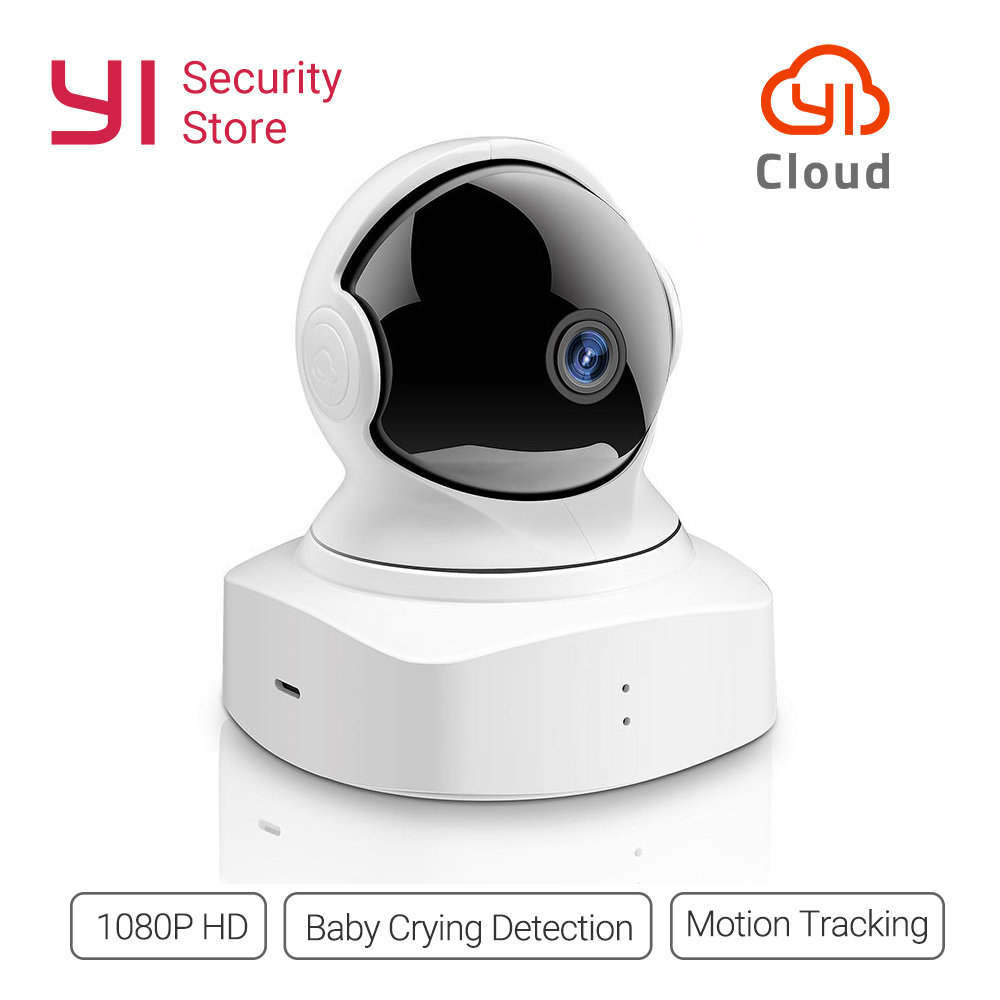New YI Cloud Dome Camera 1080P Wireless IP Security Cam WIFI Baby Monitor Night Vision 2-Way Audio International Version Cloud