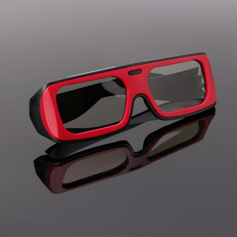 OOTDTY 3D Glasses Dual Color Frame Circular Polarized Passive 3D Stereo Glasses For Real D 3D TV Cinema dropshipping
