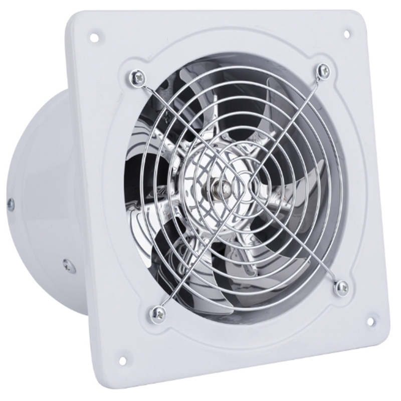 Ev Aletleri'ten Egzoz Fanları'de 220V egzoz fanı 6 inç havalandırma egzoz fanı asılı duvara monte düşük gürültü ev banyo mutfak duman egzoz fanı hava firar title=