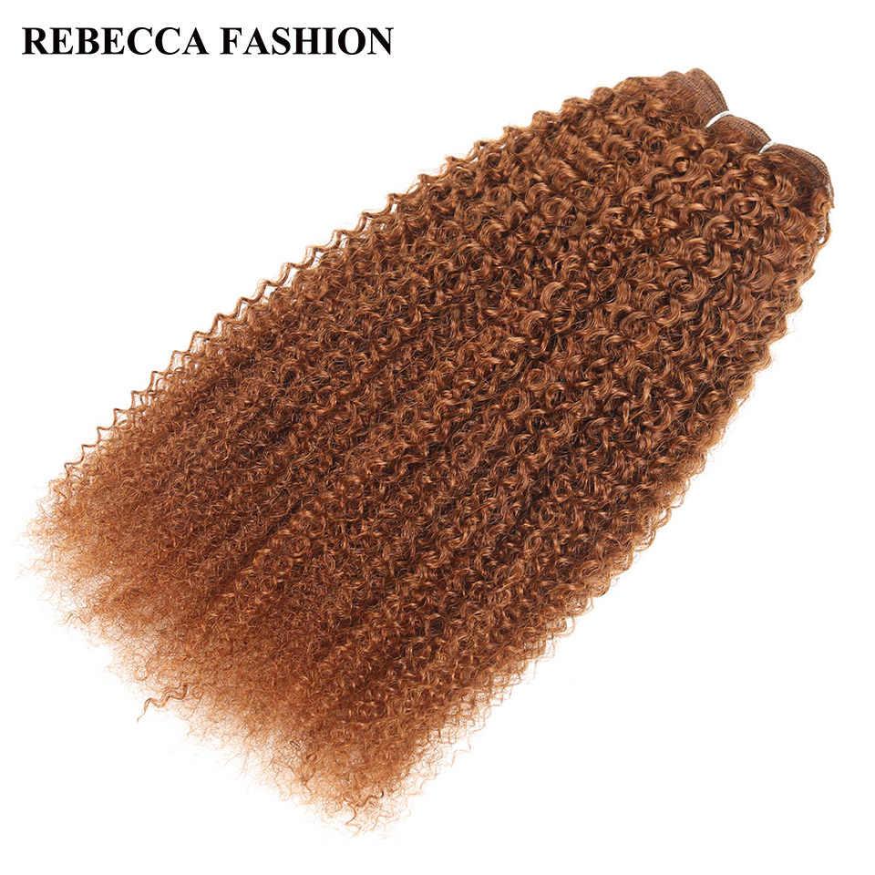 Rebecca Remy ludzkie włosy 100g brazylijski Afro perwersyjne fala włosy wyplata zestawy mieszane blond pre-colored dla Salon przedłużanie włosów