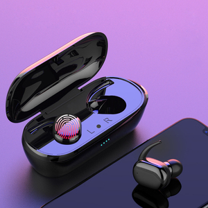 TWS Wireless Bluetooth 5.0 Fingerprint Touch Earbuds Built-in Mic Super Bass Stereo Sports Headphone Headset With Charging Box