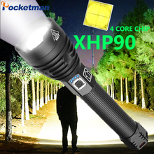 160000LM Xlamp XHP70.2 XHP90 LED Flashlight Super Powerful Torch USB XHP50 Lamp Zoom Use 18650 26650 Rechargeable Battey