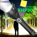 Lampe haute puissance  torche USB  lampe XHP70.2 XHP90  haute puissance  lampe USB  lampe XHP50  Zoom  18650  batterie Rechargeable