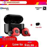 Sabbat E12 Ultra TWS CVC8.0 Wireless Bluetooth Earphone наушники беспроводные Noise Reduction APTX Wireless Earbuds Qualcomm