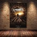Metro Exodus игра постер Картина на холсте настенное искусство Скандинавское украшение домашний современный постер для гостиной печать картинк...