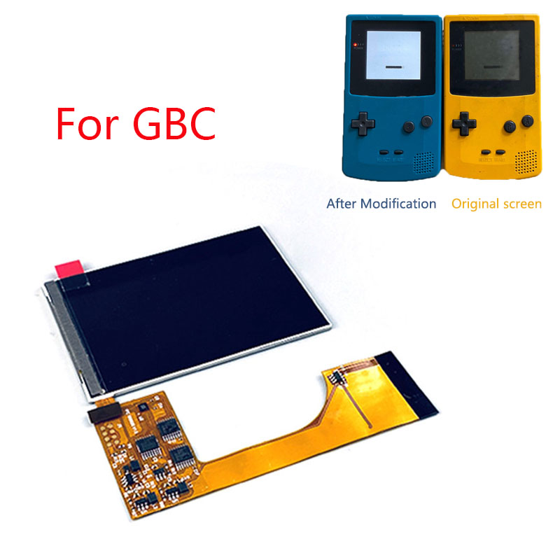 IPS High Light Backlight LCD Screen for Nintend GBC <font><b>Game</b></font> Console IPS Modification Screen Kit for GBC Brightness Adjustable image