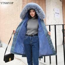 YTNMYOP куртка женская зимняя большой толстый женский парка из овечьей шерсти теплая женская зимняя куртка шуба зимняя женская зимняя одежда большой меховой воротник куртка