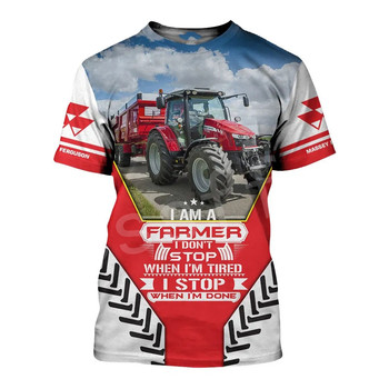 Tessffel Worker Farmer Tractor instrument Funny New Fashion 3DPrint Unisex Summer Casual Shorts sleeves T-shirts Mens/Womens A-3 2