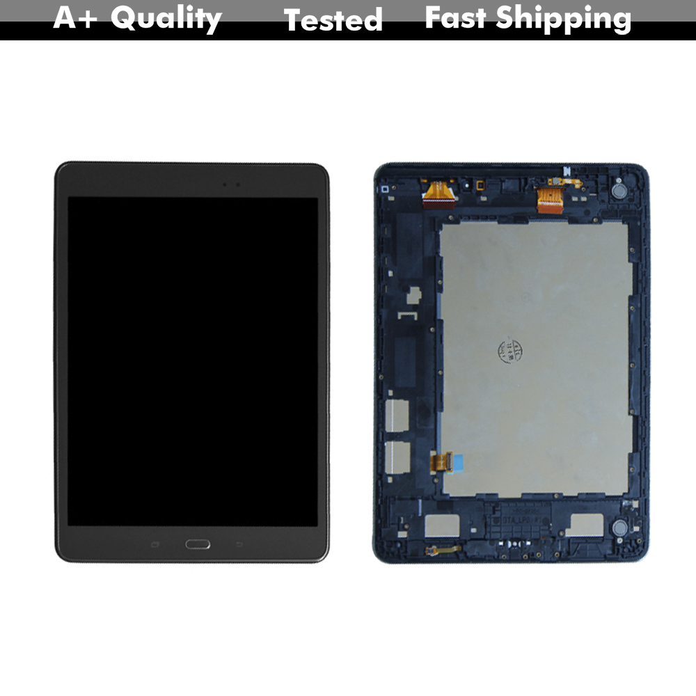 Lcd For Samsung Galaxy Tab A 9.7 SM-P550 P550 <font><b>P555</b></font> LCD Display Digitizer Screen Touch Panel Sensor Assembly + Frame Free Tools image