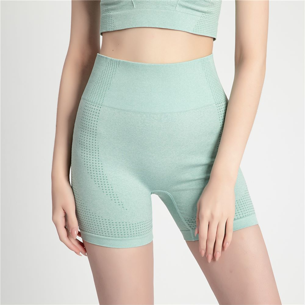 4 Colors Women's Shorts Summer Elastic Waist Sporting Shorts Casual Seamless Quick Dry Shorts For Female Fitness Short Pants