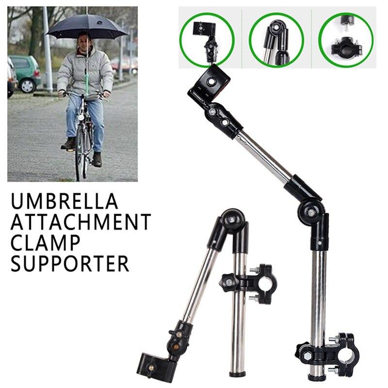 Wheelchair Umbrella Connector Stroller Stainless Steel Umbrella Stand Any Angle Swivel Bicycle Umbrella Holder Rain Gear Tool U3