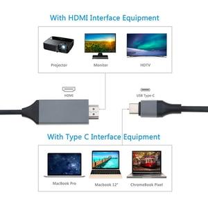 Image 3 - KEBIDU 2m tipo C USB C a HDMI HDTV 4K @ 30Hz Cable para Samsung para Galaxy Note 8 9 S10 + Plus + USB C Cable HDMI