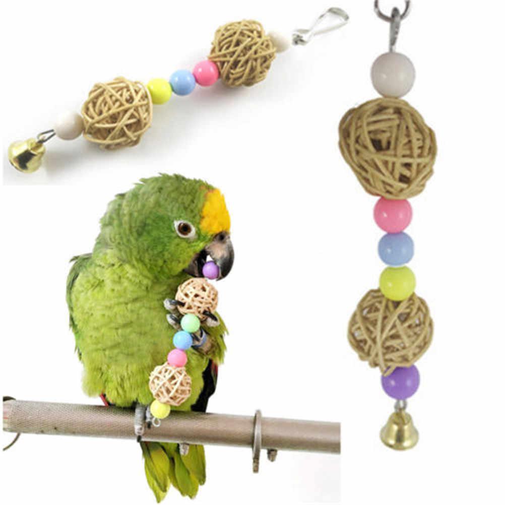 ตลกแพลตฟอร์มไม้กระจกเงินBird Stand Rackสำหรับนกแก้วสัตว์เลี้ยงผลิตภัณฑ์อุปกรณ์ของเล่น