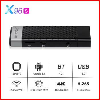 X96S Amlogic S905Y2 Android 8 1 BT4 2 Smart Tv Box 2 4G 5 8G podwójny Wifi Android Tv Box 4k 2021 X96 S Tv Stick Mini zestaw-top Box tanie i dobre opinie 100 M CN (pochodzenie) Procesor Amlogic S905Y2 Quad-core 64-bit 16 GB eMMC 32 GB eMMC HDMI 2 1 2G DDR3 4G DDR3 600g 1x USB 2 0