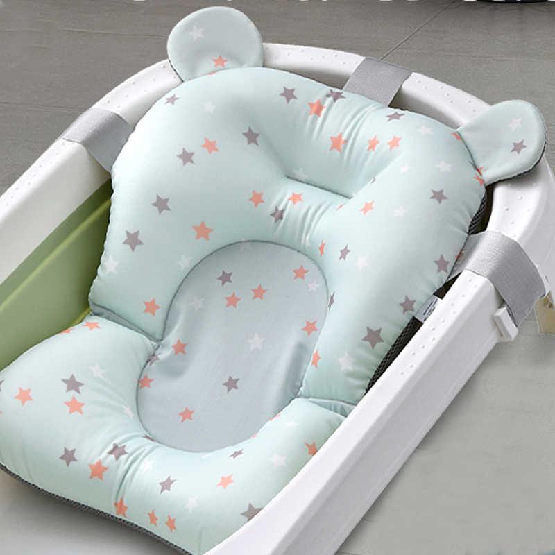 נייד תינוק מקלחת אמבטיה אמבטיה משטח החלקה Bathbed מושב מחצלת יילוד בטיחות אבטחת אמבט תמיכה כרית מתקפל רך כרית
