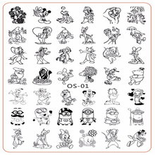 1pcs 14.5*9.5cm Nail Stamp Template Cartoon/Flower/Love Art Stamping Plates Image Stencil Plate PlusOS