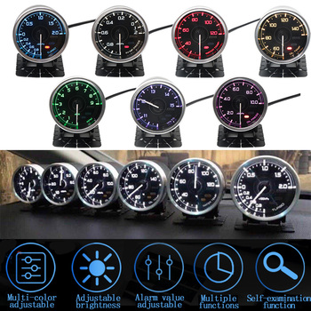 7-color Defi gauge A1 car accessories, turbine , oil pressure ,  oil temp,voltmeter,water temp, tachometer and vacuum gauge oil pressure sensor replacement for defi link and for apexi and just for pivot s gauge for ford mustang 3 8l tk cgq05