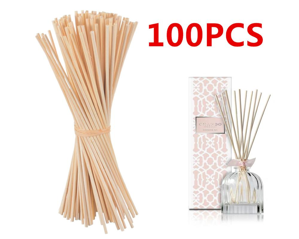 100pcs 22cmx3mm Nature Rattan Sticks Replacement Refill Sticks Essential Oil Reed Diffuser Sticks For Home Wedding Decoration
