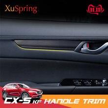 Для Mazda CX-5 CX5 2017-2021 KF автомобиля внутренняя дверная ручка поручень Панель накладка ленты декоративный наклейки для укладки 4 шт./компл.
