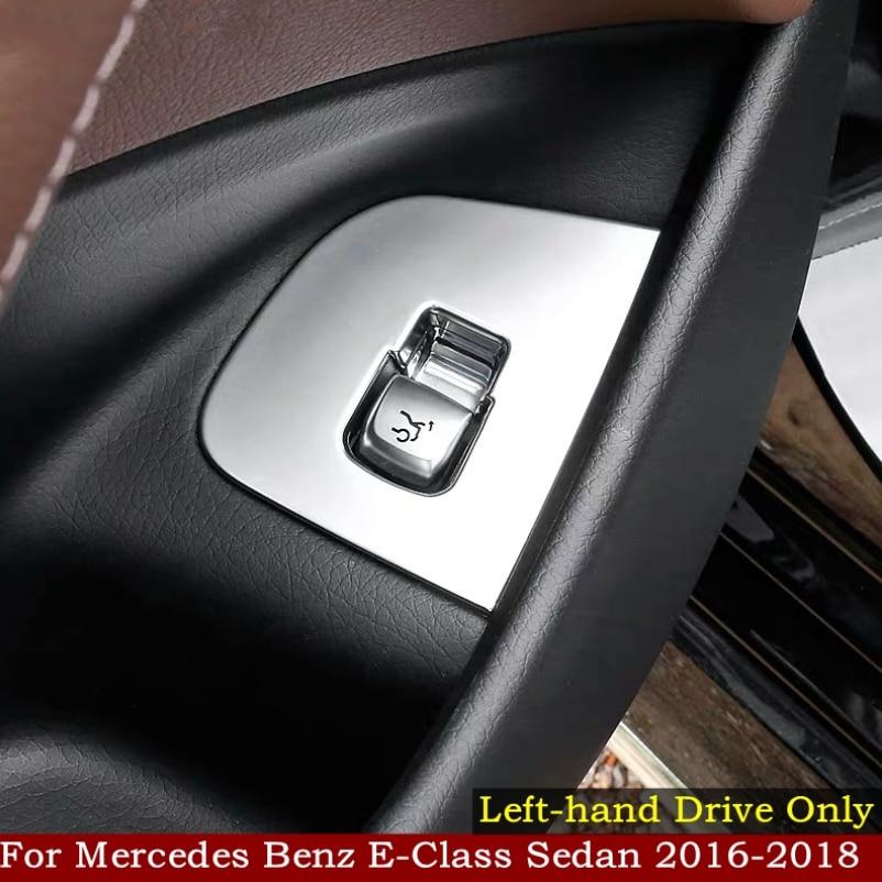 ABS Carbon Rear Seat Armrest Cover Trim For Mercedes Benz E-Class W213 2016-2018