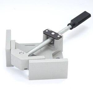 Image 1 - Lassen Aluminiumlegering Vice Twee Axis Frame Enkele Handvat Map Clip 90 Graden Handgereedschap Haakse Clamp Houtbewerking Hoek