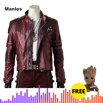 Star Herr Kostüm Cosplay Jacke Guardians Of The Galaxy 2 Peter Quill Leder Mantel Hosen Requisiten Halloween Outfit Nach Maß