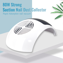 80W Strong Suction Nail Dust Collector Nail Fan Art Salon Equipment Suction Dust Collector Machine Vacuum Cleaner for Manicure arieslibra 40w nail art salon suction dust collector manicure filing acrylic uv gel tip machine cleaner salon manicure tools