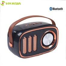 Altavoz Retro inalámbrico Bluetooth HYASIA, altavoz Vintage portátil, Radio FM, sonido estéreo, altavoz al aire libre, compatible con tarjeta TF USB