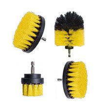 4Pcs Electric Drill Brush Kit Plastic Round Cleaning Brush For Carpet Glass Car Tires Nylon Brushes Power Scrubber Drill