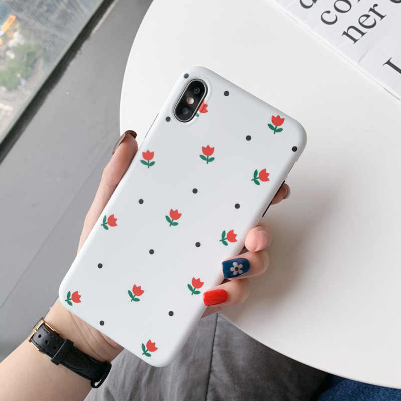 Hot Nhỏ Hoa Tươi Ốp Lưng Điện Thoại Iphone 11 Pro Max 6 6S 7 8 Plus X XR Hoa TPU Cho iPhone XS Max Cho Bé Gái Nữ