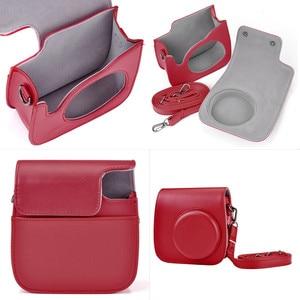 Image 5 - Deri kamera askısı çantası telefon koruyucu koruyucu omuz askısı Polaroid fotoğraf kamerası Fuji Fujifilm Instax Mini8 8 + 9
