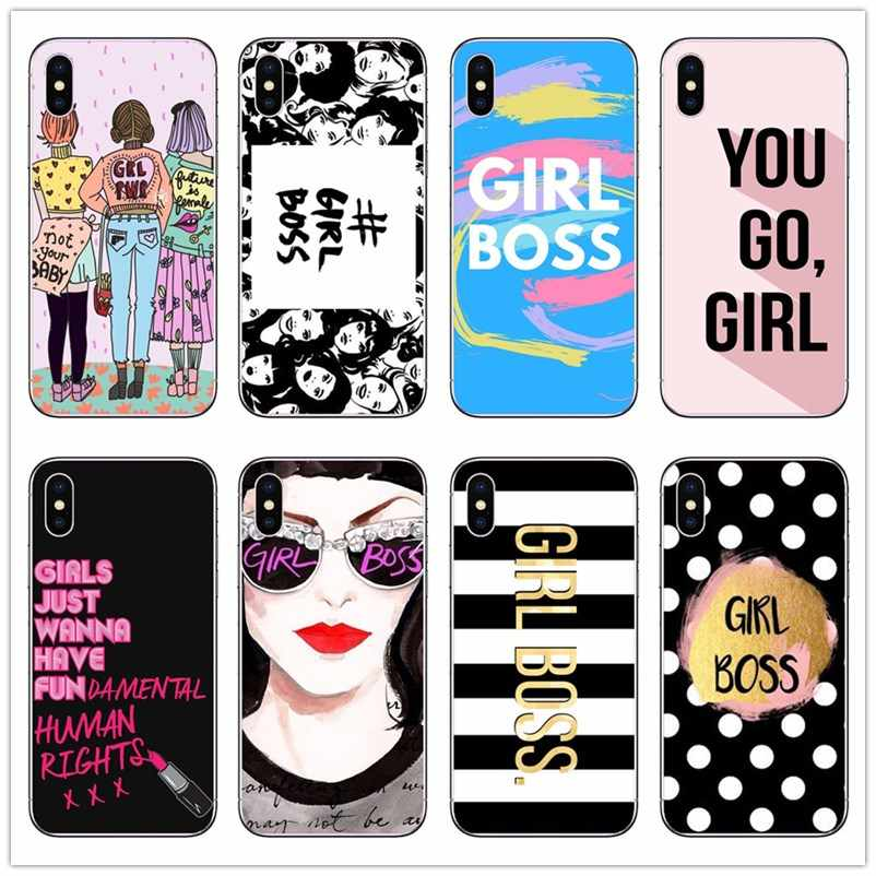 Cute Funny Quotes Girl Boss Mobile Pouch For Iphonex Xs Xr Xsmax 5s Se 6 6s 7 Plus 8 Plus Hard Pc Mobile Phone Bags Cases