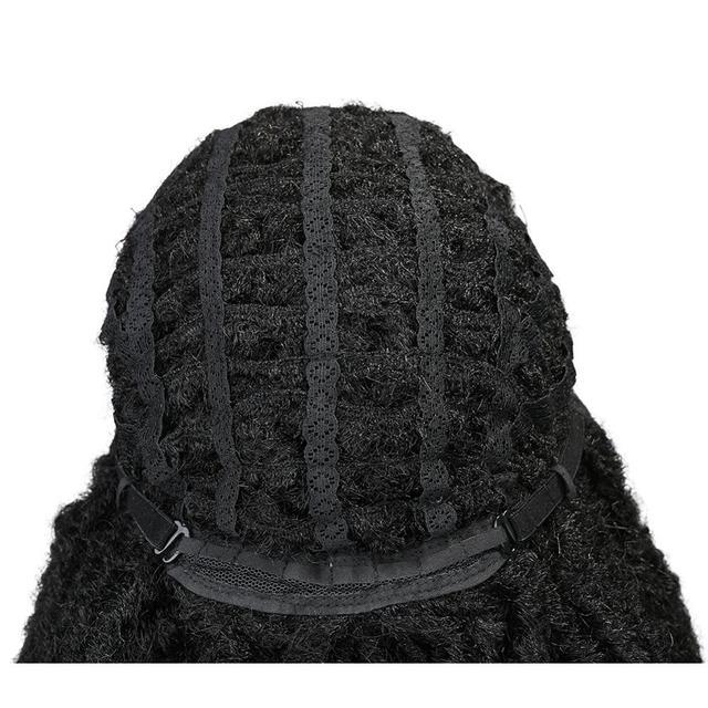 FAVE Dreadlock perruque noir Afro cheveux bouclés tressé torsion Dreadlock perruques résistant à la chaleur fibre synthétique quotidien fête perruque pour les femmes