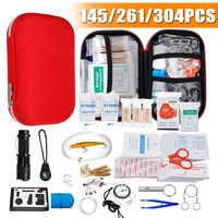 145/261/304 pçs kit saco de primeiros socorros acampamento caminhadas carro portátil ao ar livre kit de emergência médica tratamento pacote sobrevivência caixa resgate