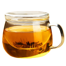 Необычный, прозрачный стеклянный чайный стаканчик Классическая термостойкая стеклянная кружка для чая стеклянная кофейная кружка с крышкой Питьевая утварь