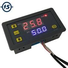 K-tipo termopar-60 centi- 500 centimedidor de temperatura digital centígrada azul vermelho led display temp sensor suporte 6 função dc 12v