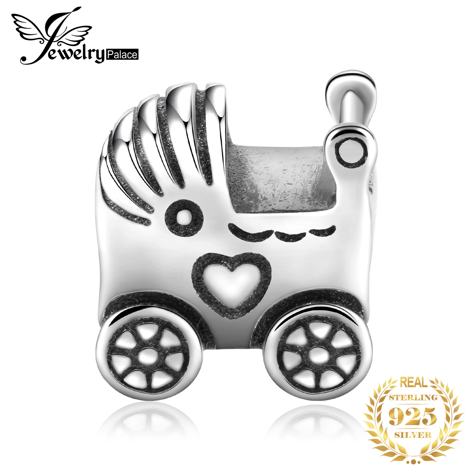Jewelrypalace 925 Sterling Silver Baby Stroller Pram Charm Pendant New Hot Sale For Women As Beautiful Gifts(China)