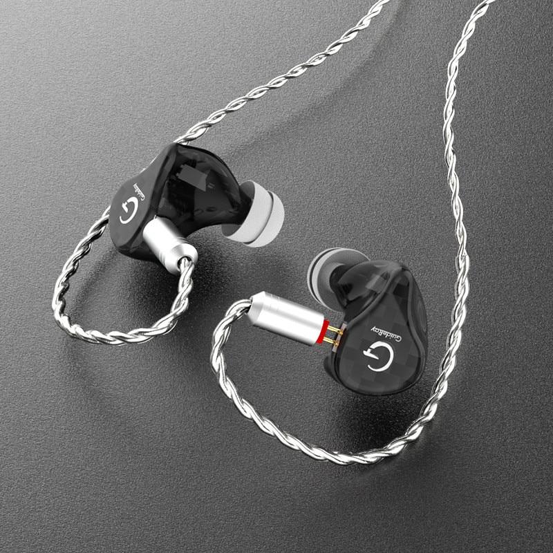 GR-I68 Resin ring iron headphones HiFi in-ear subwoofer moving iron headphones fever headphones 0.78mm 2pin Hybrid Earphone