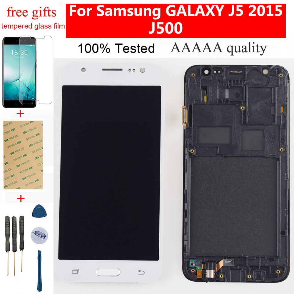 Adjustable LCD <font><b>Display</b></font> for Samsung GALAXY J5 2015 <font><b>J500</b></font> Touch Screen Panel Assembly for J500F J500FN J500M J500H image