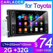 Autoradio android 8.1, 2 din, lecteur multimédia universel, stéréo, pour voiture Toyota VIOS, CROWN, CAMRY, HIACE, PREVIA, COROLLA, RAV4