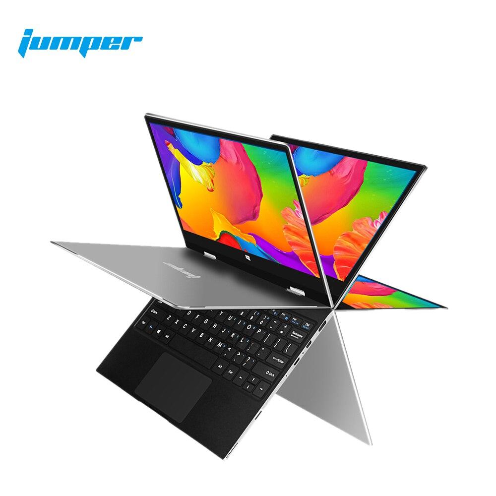 Джемпер EZbook X1 6 ГБ 128 ГБ ноутбук с процессором Intel Celeron 4 ядра Тетрадь 360 Вращающийся планшеты 11,6 дюймов 1920*1080 сенсорный Экран компьютер