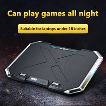 Laptop Cooler Laptop Cooling Pad Notebook Gaming Cooler Stand Silent RGB LED Light Six Fan Two USB Ports for 11-18 inch Laptop laptop cooler cooling pad base big fan usb stand for 14 inch led light notebook drop ship