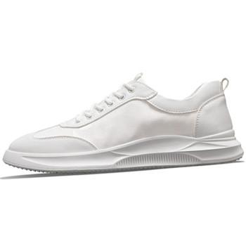 Lato białe buty gorące buty oddychające cienkie buty białe męskie buty deskorolkowe białe buty białe buty tanie i dobre opinie PADEGAO Mesh (air mesh) Stałe Dla dorosłych Oddychająca Pasuje prawda na wymiar weź swój normalny rozmiar Bonded leather