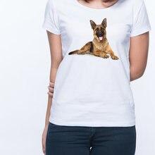 Футболка с немецким принтом пастухов футболки для женщин животным
