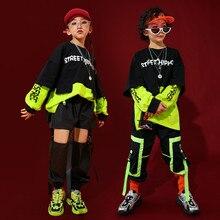 Children Hip Hop Clothing Outfits Sweatshirt Shirt Tops Casual Pants for Girls Boys Dance Costume Wear Ballroom Dancing Clothes