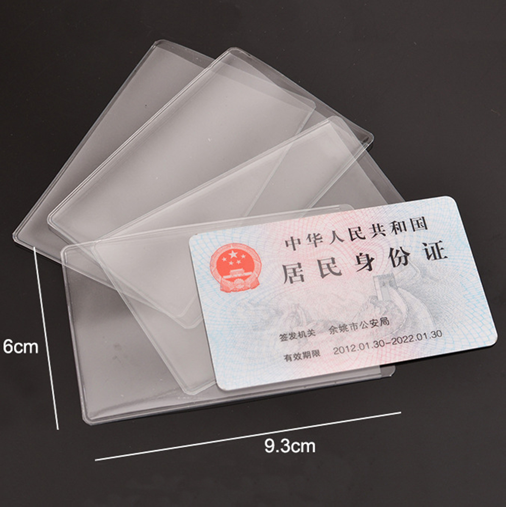 10Pcs/lot  PVC Transparent Credit Card Holder Protect ID Card Business Card Cover Driver's License Case Protection Covers