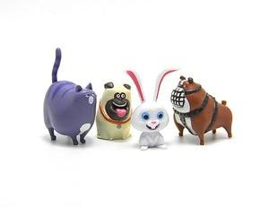 Image 3 - 14 pz/set Animali del fumetto Del Cane Del Coniglio PVC action figure Mini animale gatto uccello Modello figura giocattoli set di regali per I Bambini