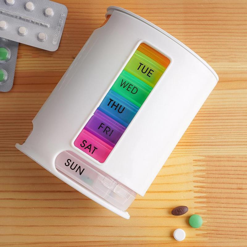 7 Days Pill Organizer Pro Storage Case Compact Organize Mini Pills Storage Box Handy Medicine Storage Box Pill