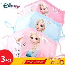 ¡Nuevo! Los niños de Disney máscaras de algodón lavable reutilizable máscara facial para niños congelados Spiderman niño máscara de la boca con PM2.5 filtro